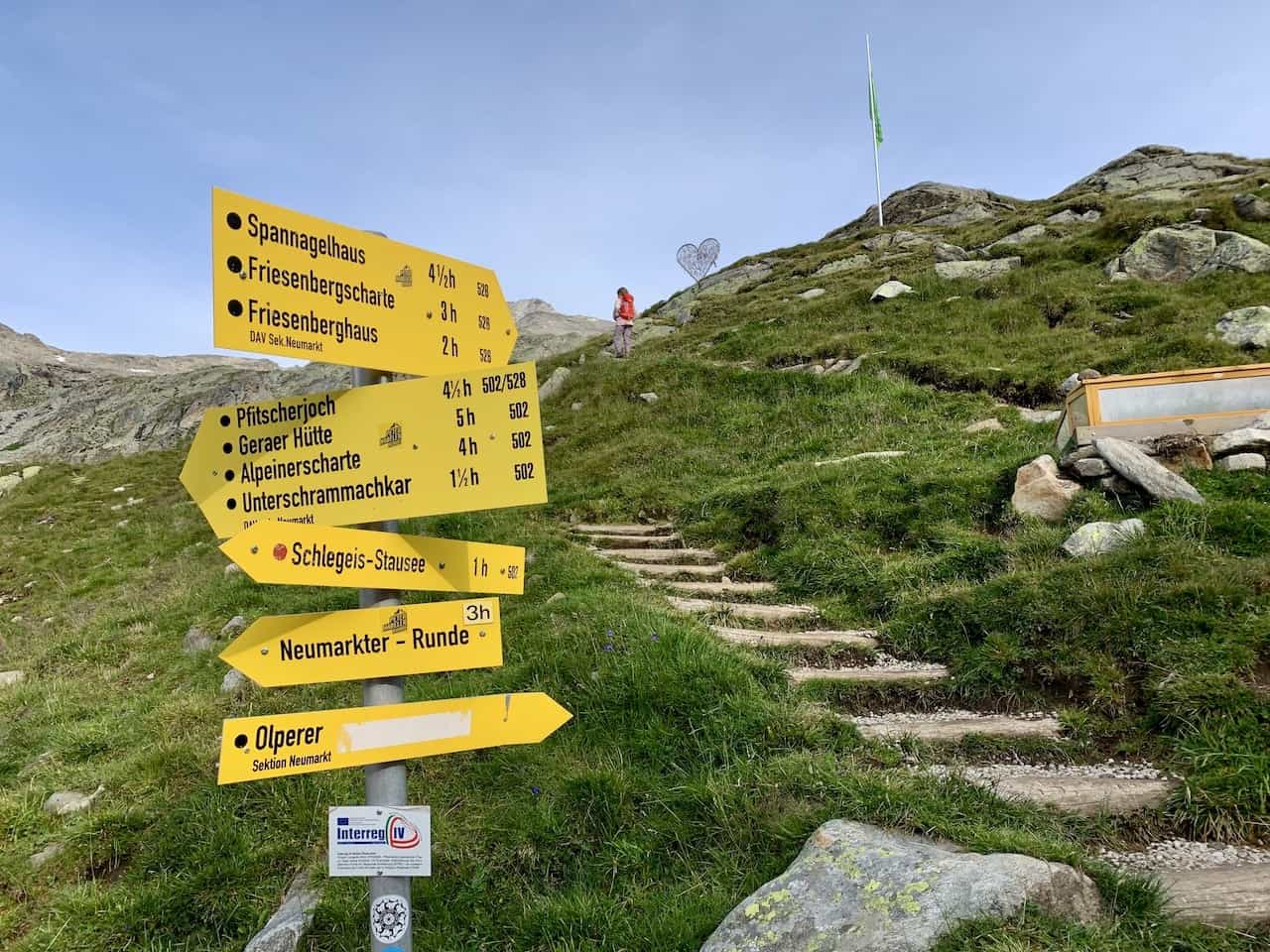 Friesenberghaus Sign