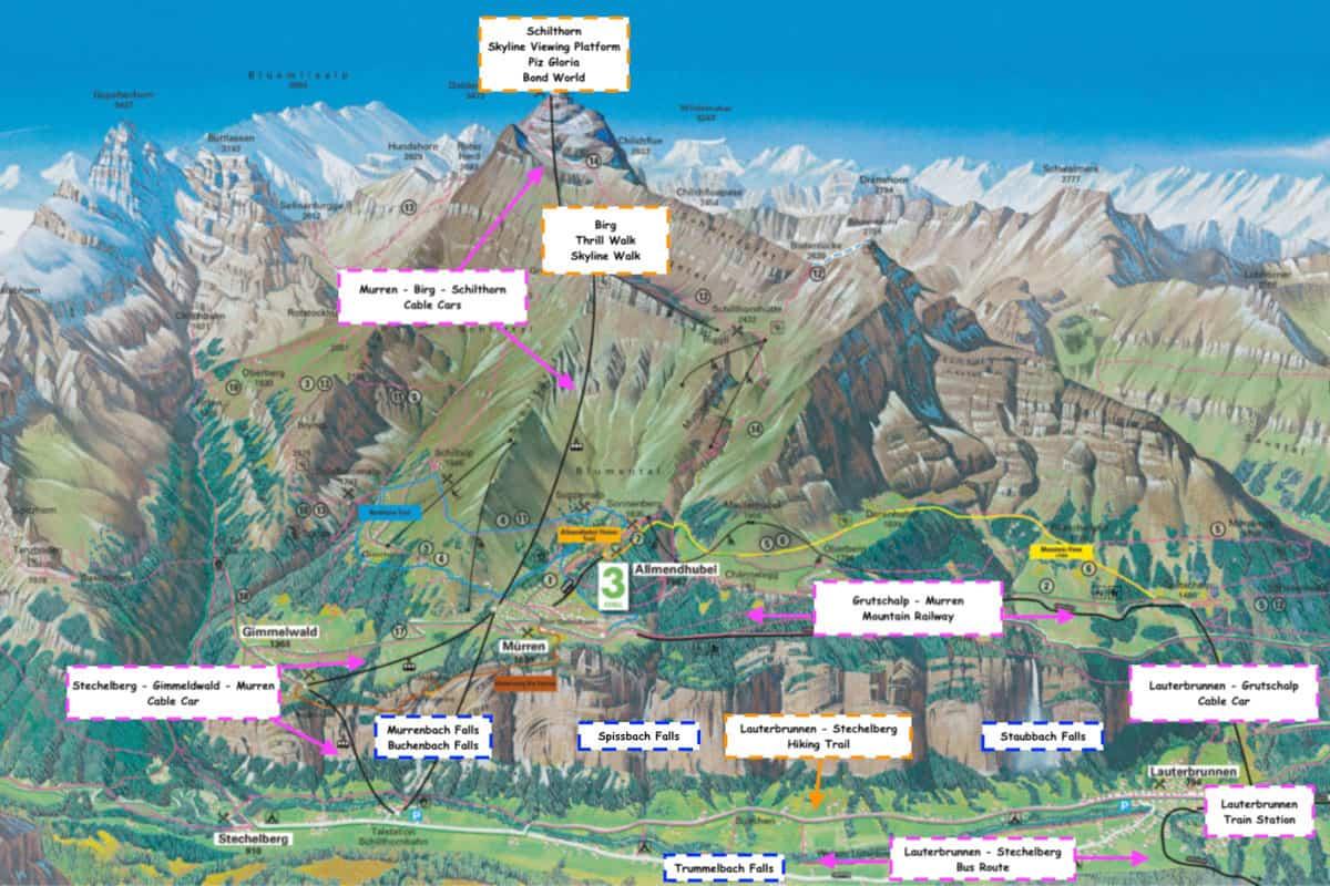 Lauterbrunnen Valley Map