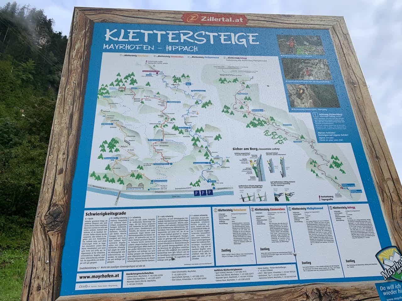 Mayrhofen Klettersteig Routes