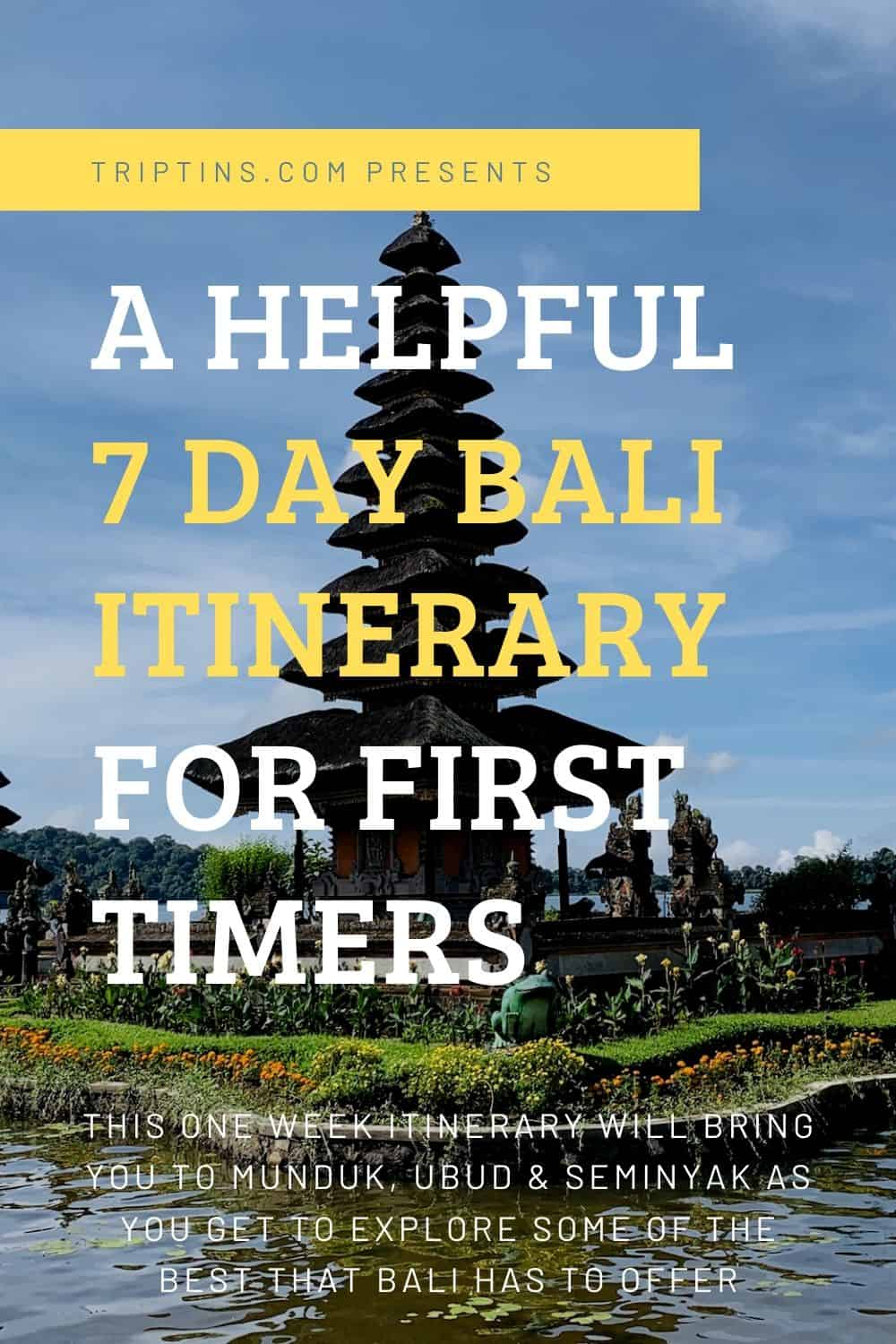 One Week Bali Itinerary