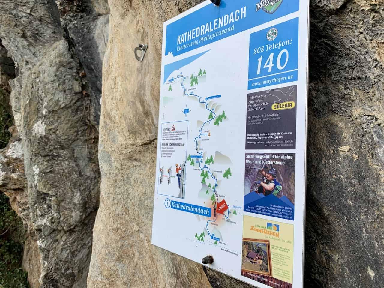 Pfeilspitzwand Route Map