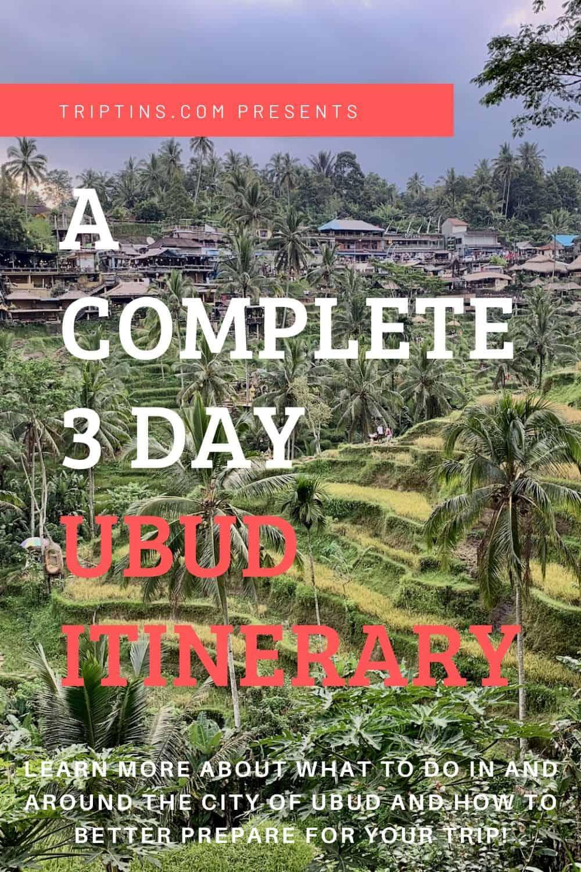 Ubud Itinerary Bali