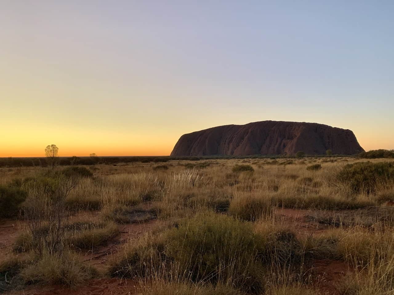 Uluru Sunrise at Sunset Spot