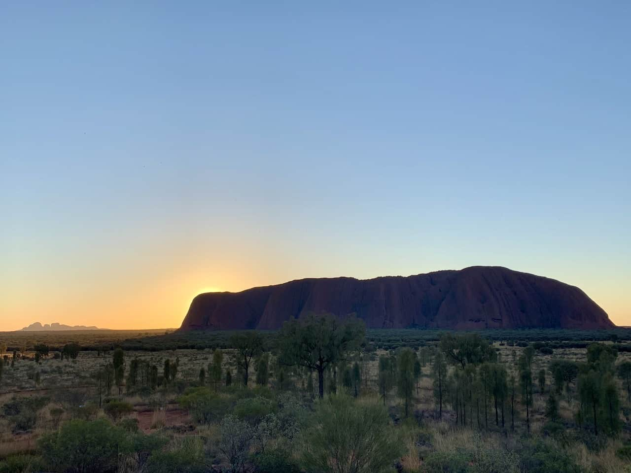 Uluru Sunset at Sunrise Spot