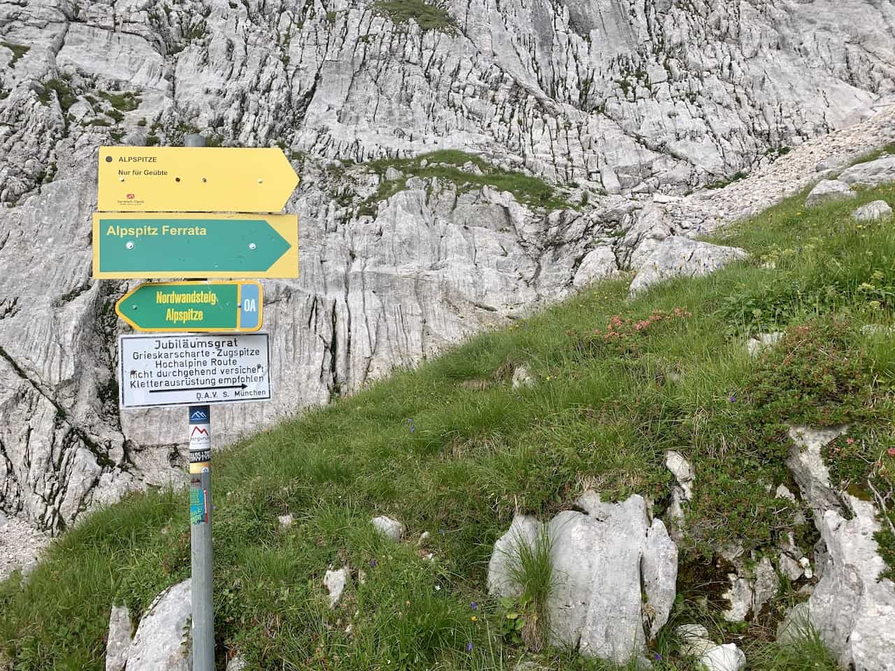 Alpspitze Ferrata Sign