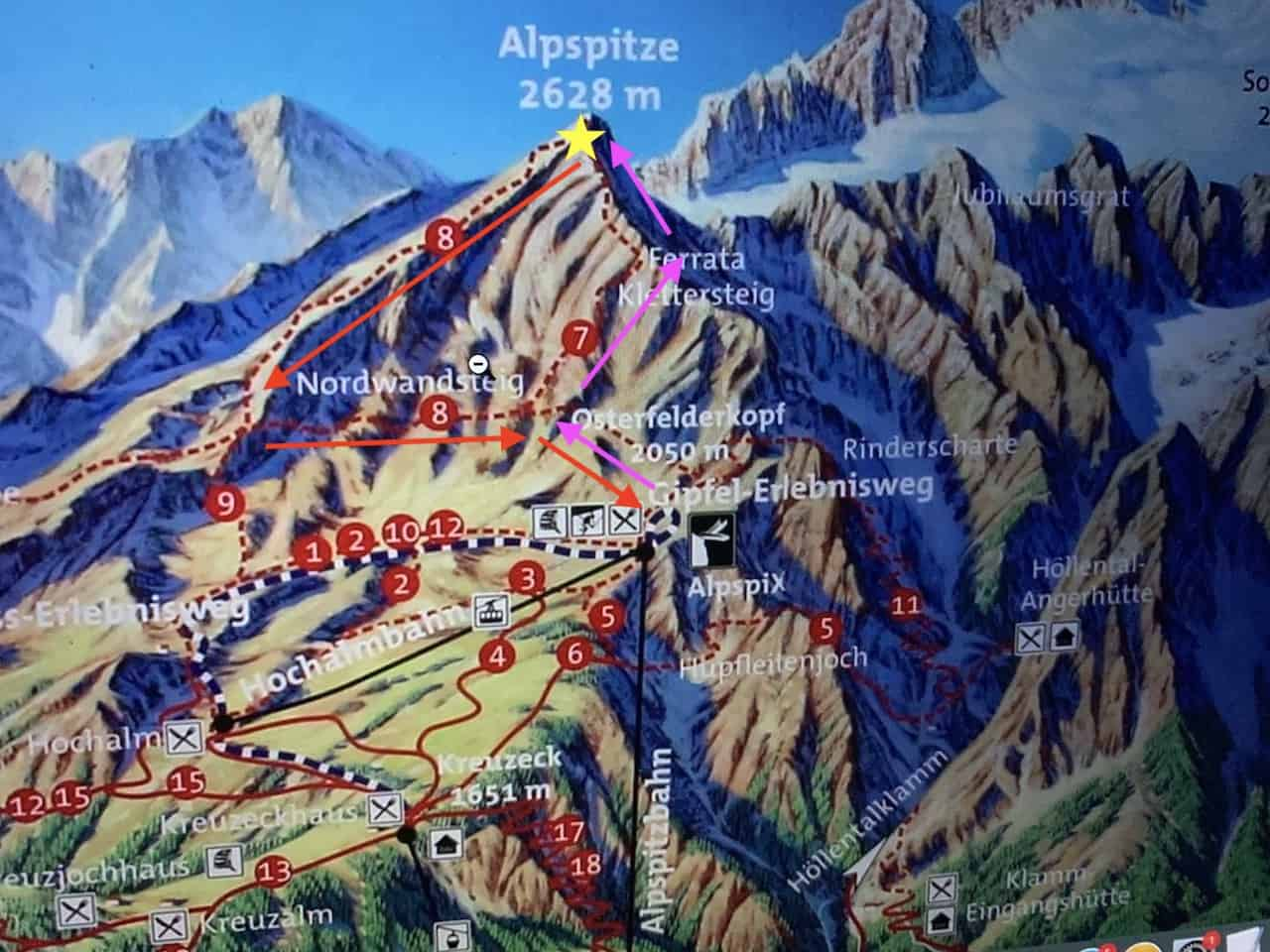 Alpspitze Hiking Map