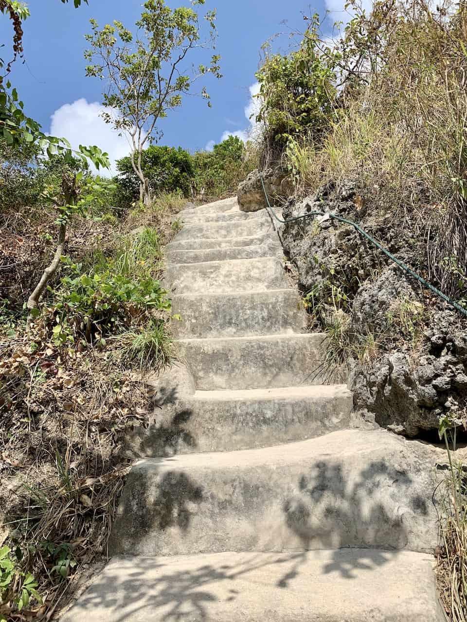 Atuh Beach Staircase