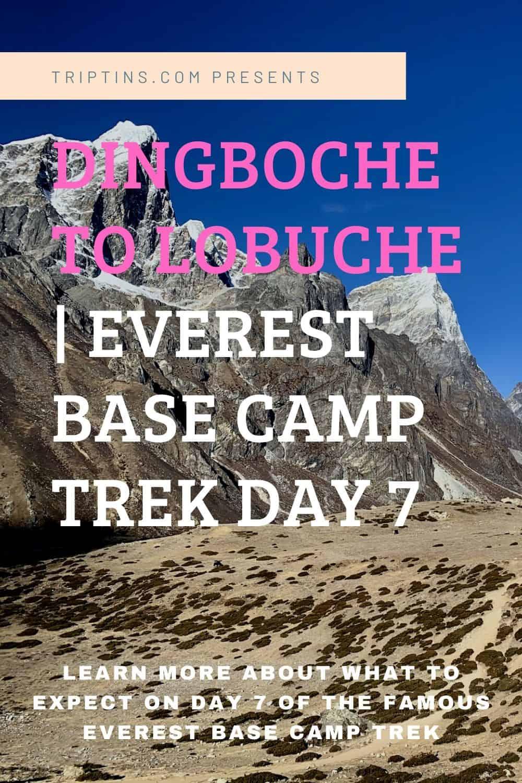 Dingboche to Lobuche Day 7 Everest