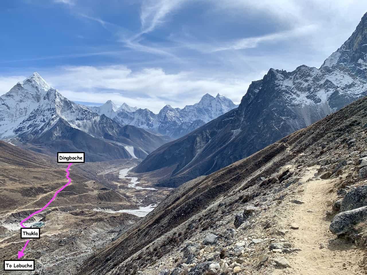 Dingboche to Lobuche Trail