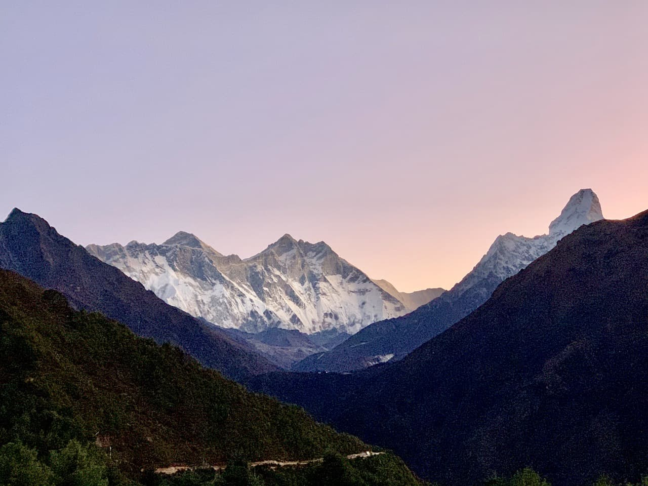 Everest Mountain Range Sunrise