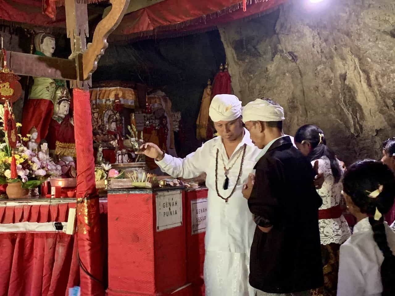 Goa Giri Putri Cave Temple Ceremony