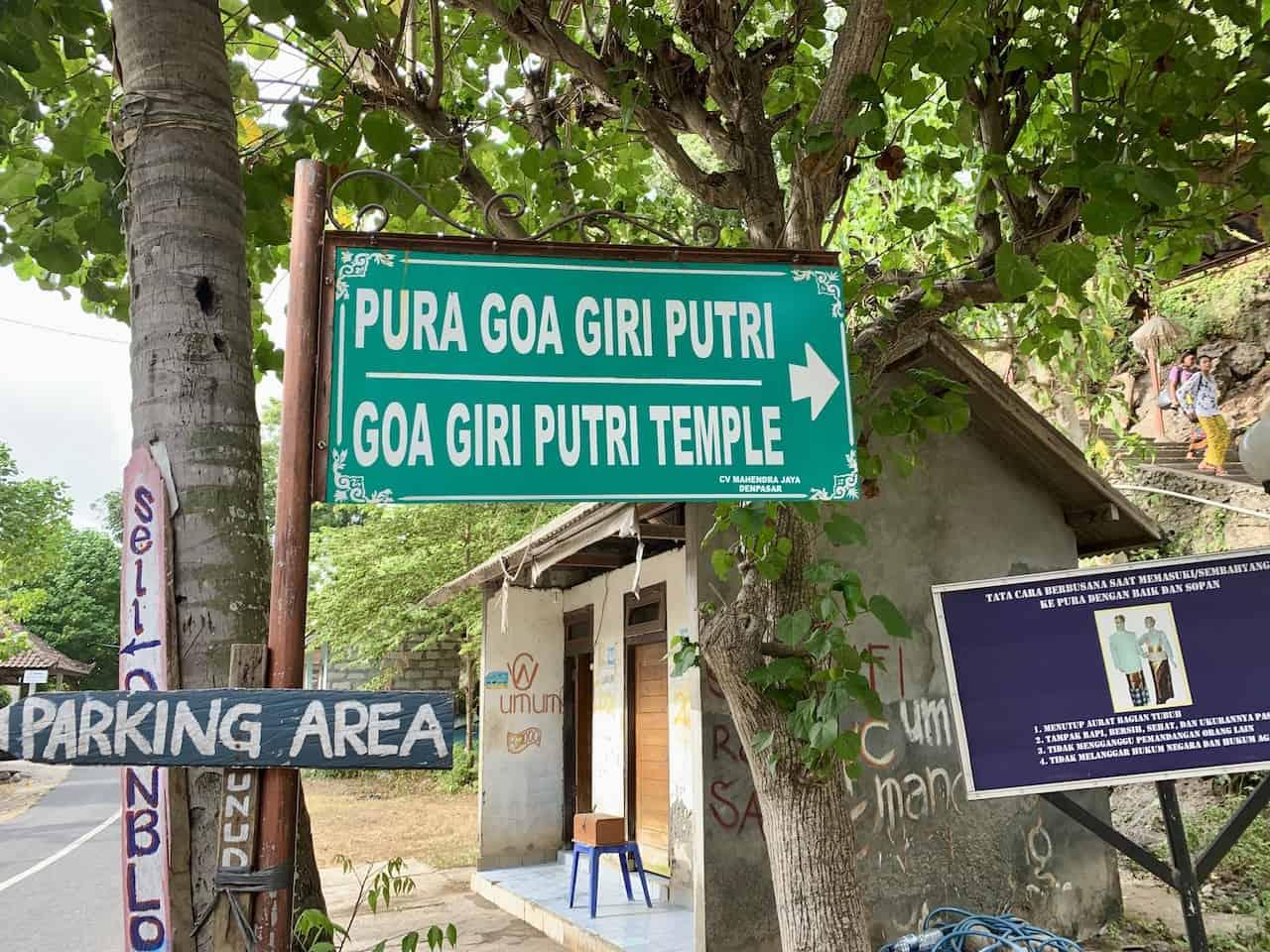 Goa Giri Putri Parking