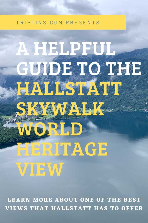 Hallstatt Skywalk World Heritage View Austria
