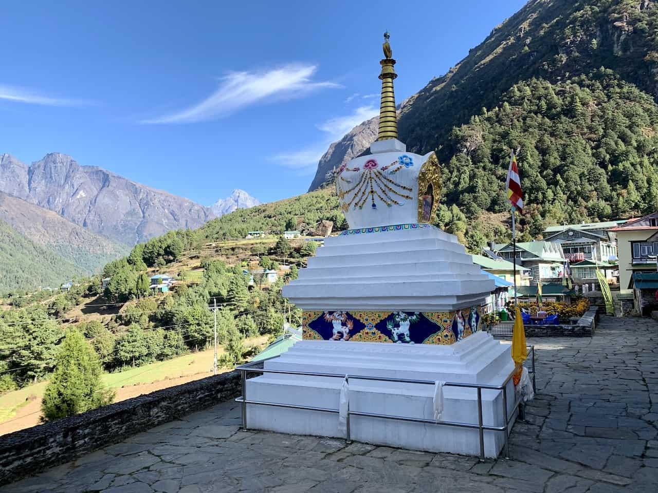 Lukla to Phakding Stupa