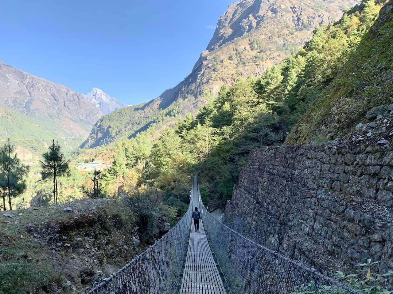 Lukla to Phakding Suspension Bridge