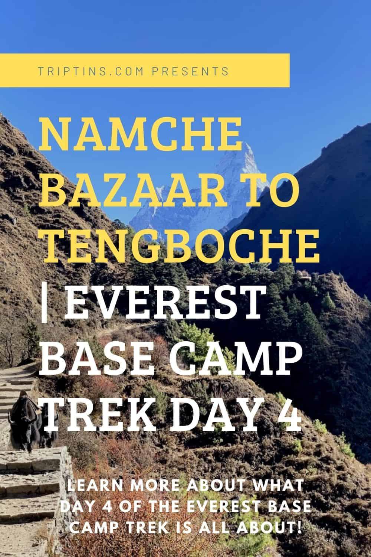 Namche Bazaar to Tengboche Trekking