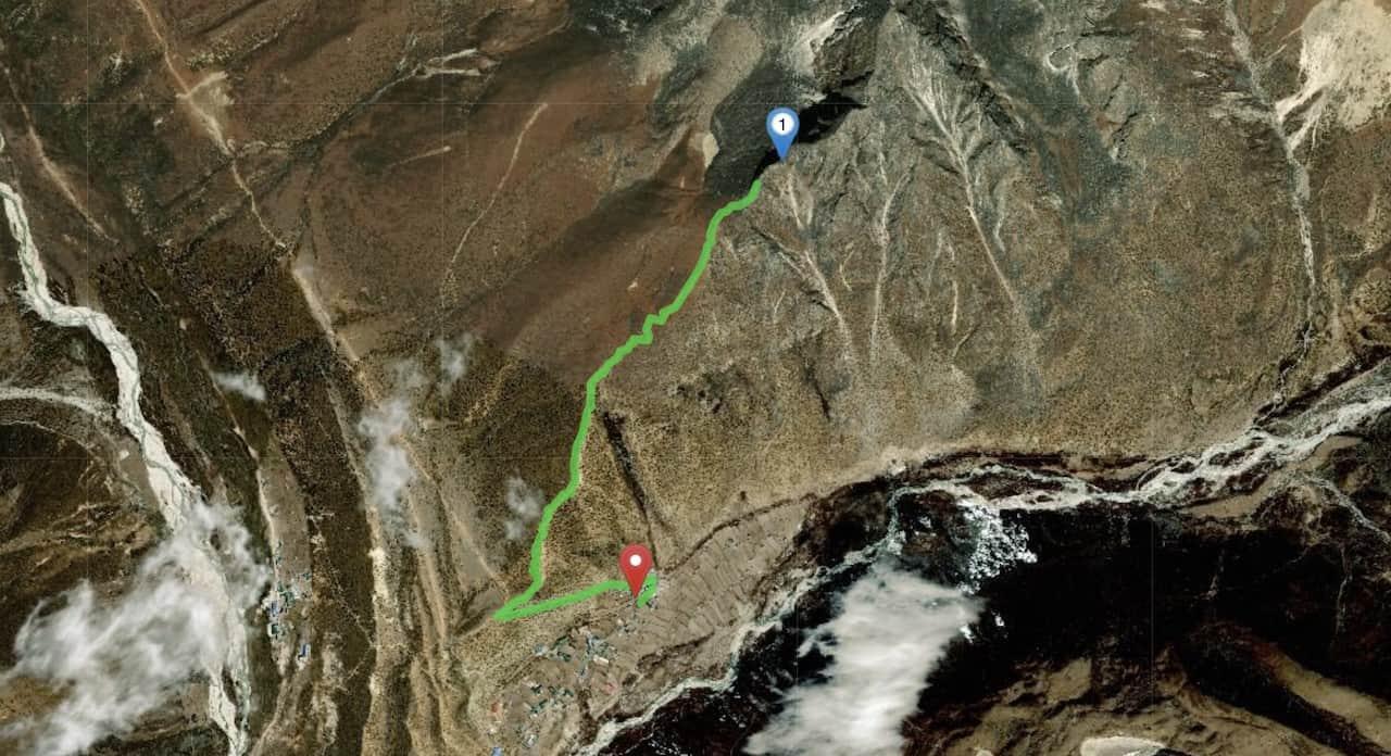 Nangkartshang Peak Map