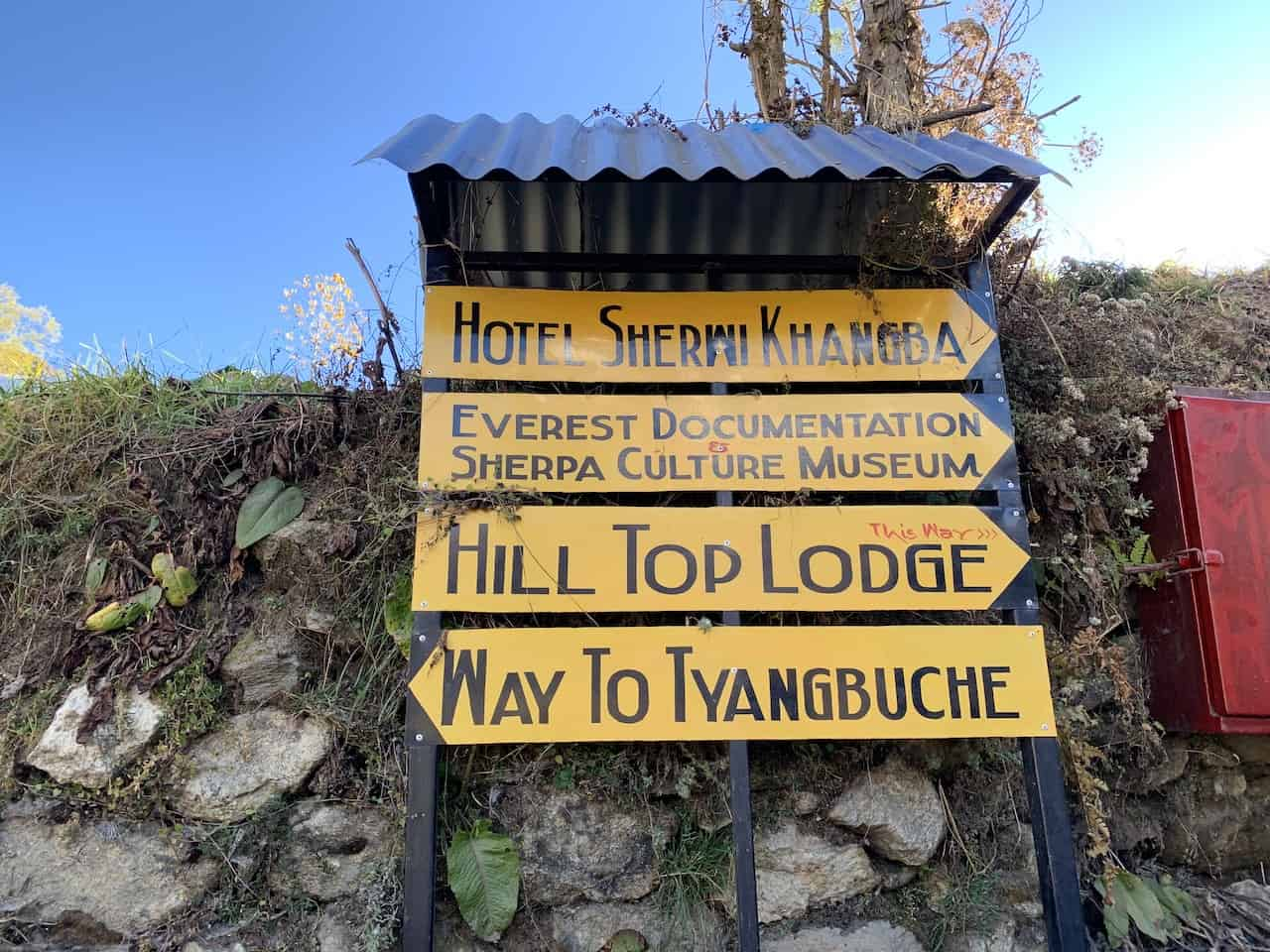 Tengboche Sign