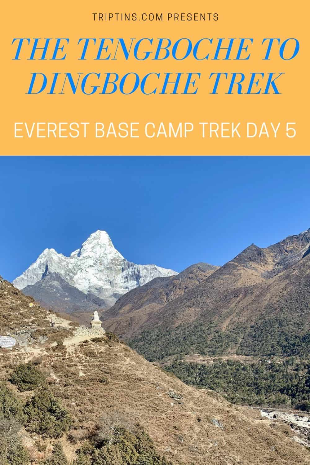 Tengboche to Dingboche Everest Trek