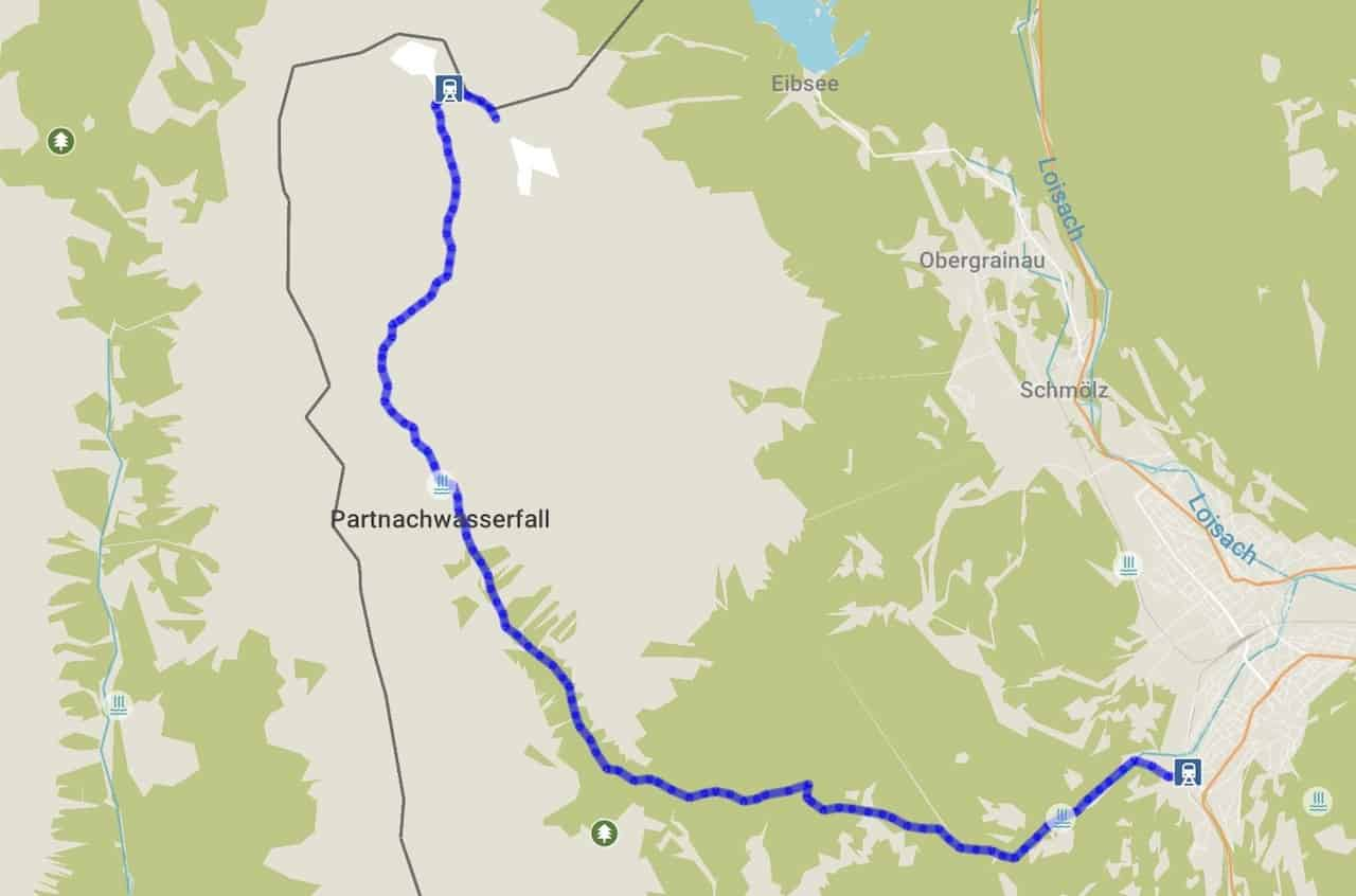 Zugspitze Hiking Map