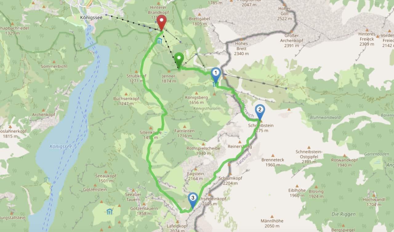 Berchtesgaden Hiking Map