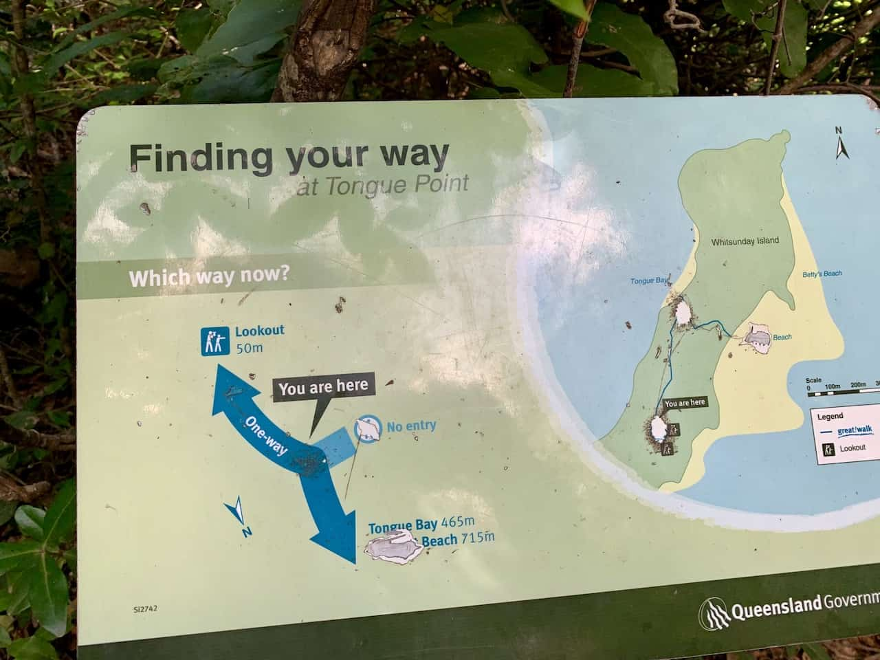 Hill Inlet Lookout Map