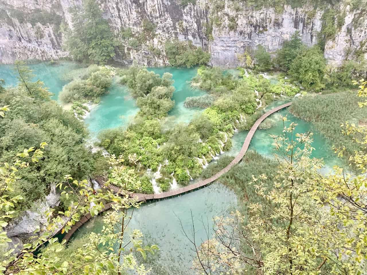 Plitvice Lakes View from Entrance 1
