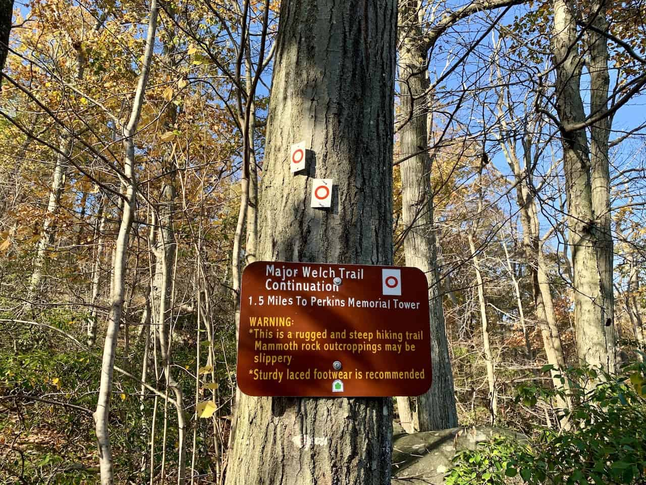 Major Welch Trail Sign