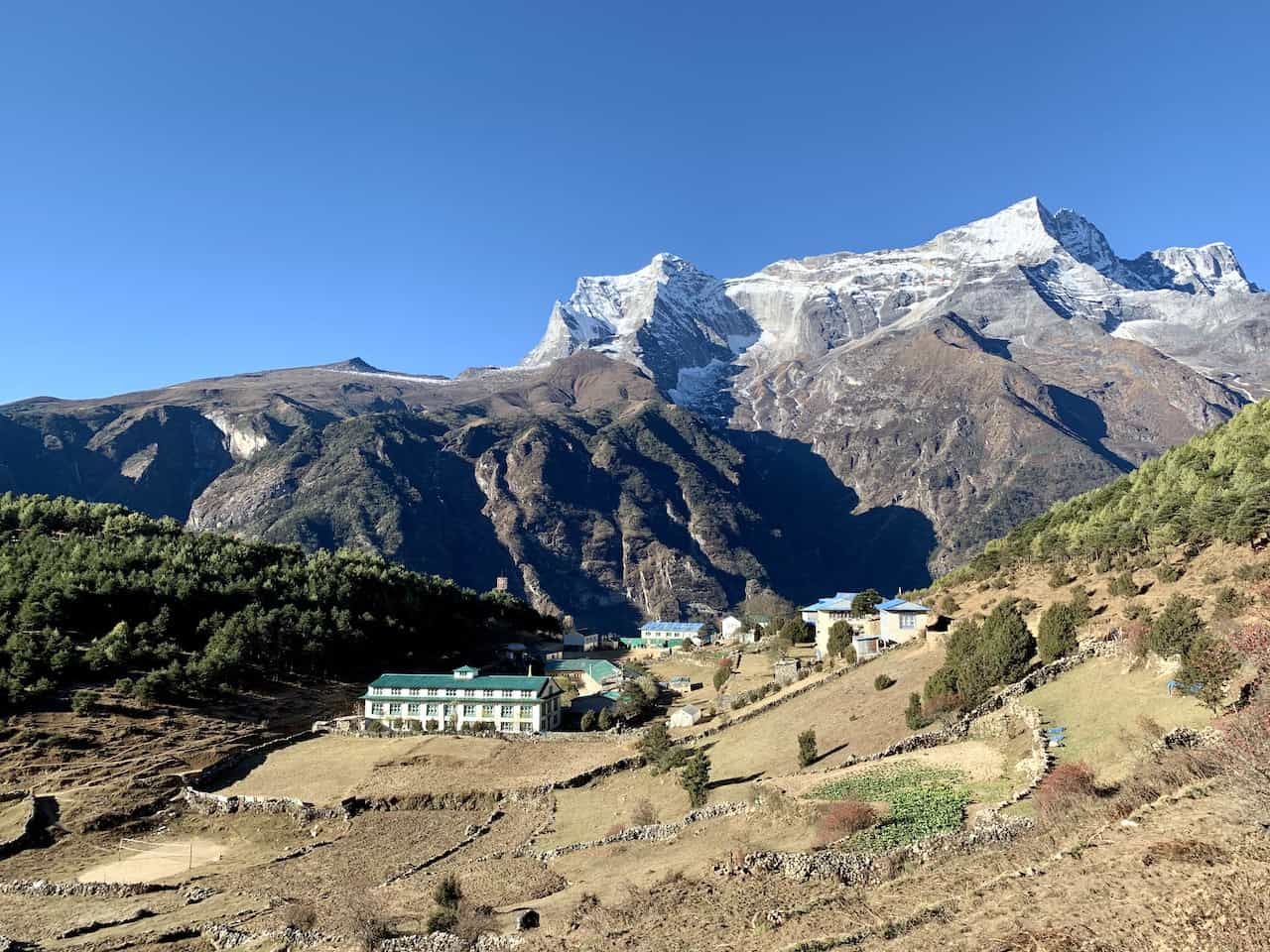Namche from Pheriche