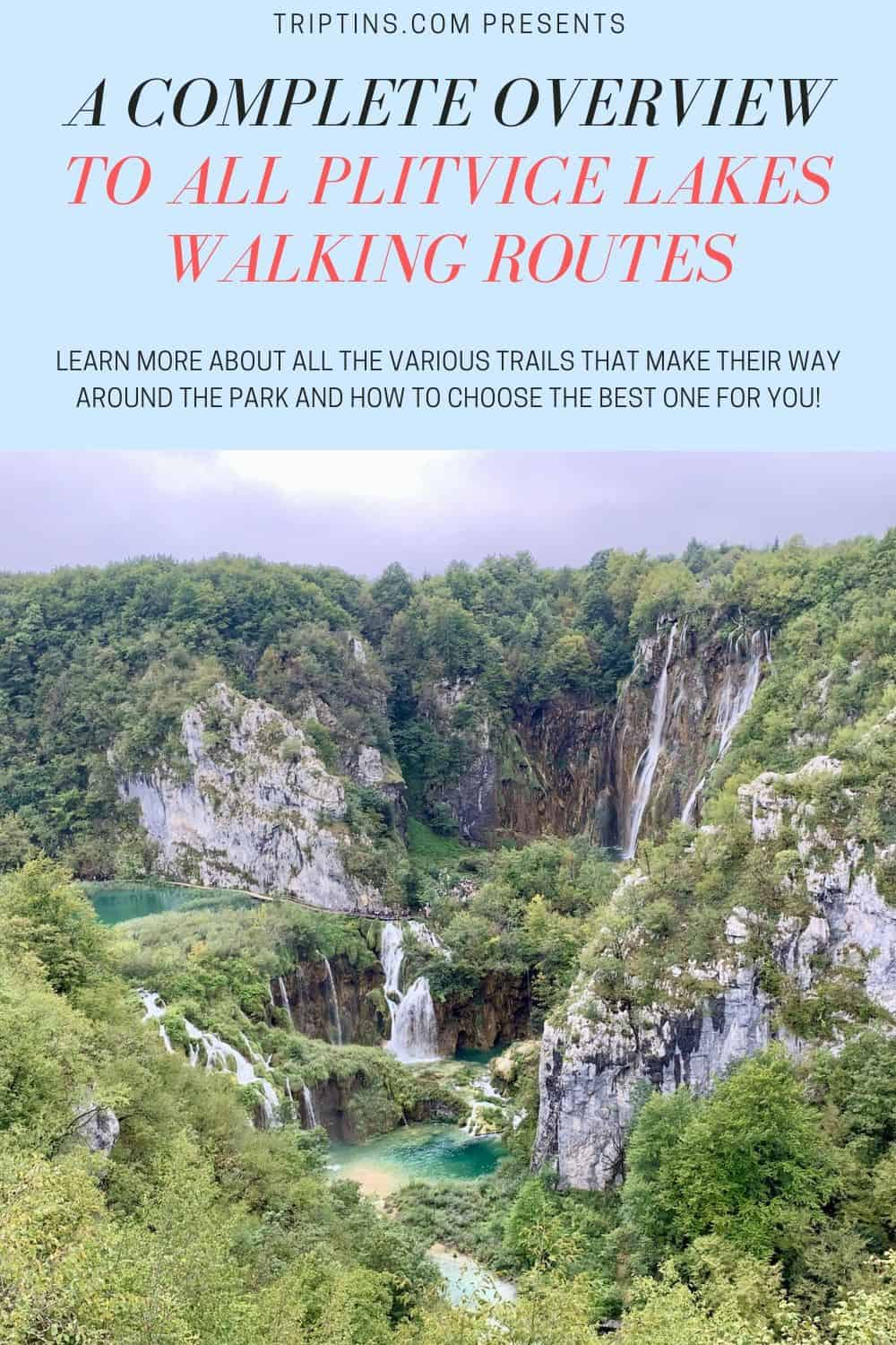 Plitvice Lakes National Park Walking Routes