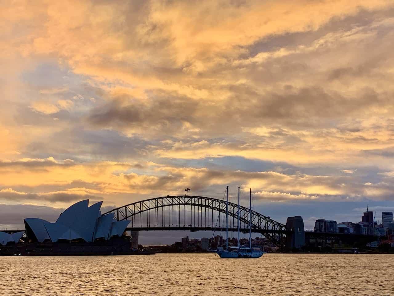 Sydney Sunset Mrs Macquaries Chair