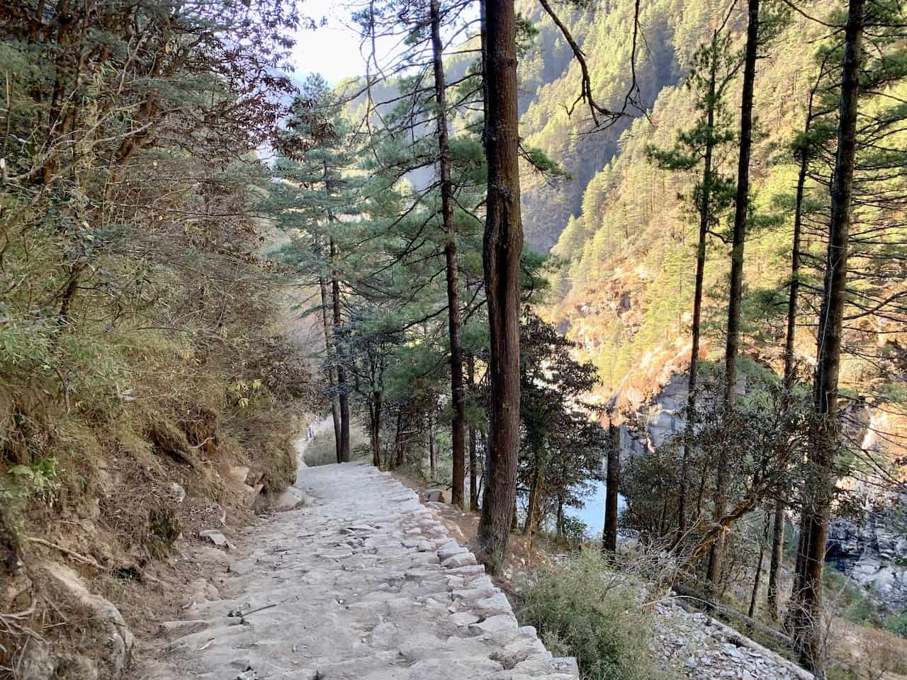 Downhill Trek to Lukla