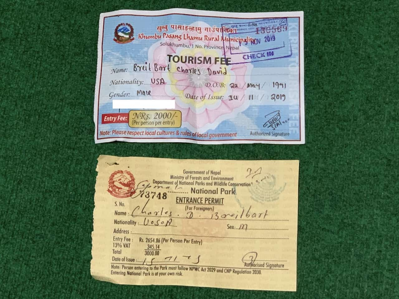 Everest Base Camp Permits