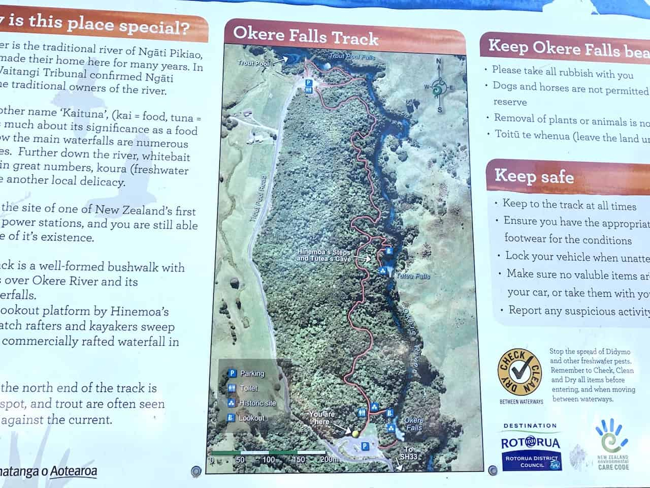 Okere Falls Walk Map