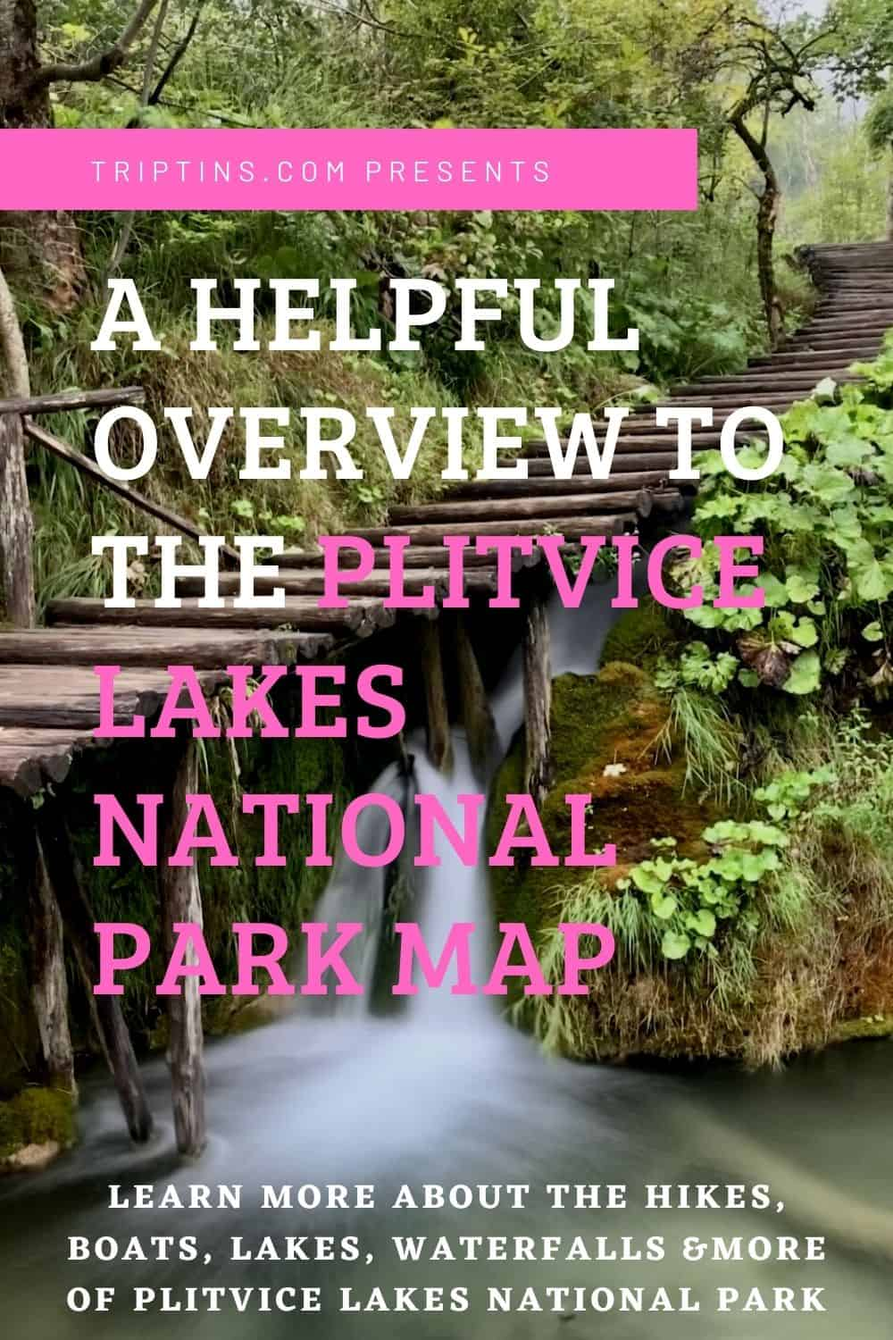 Plitvice Lakes National Park Map