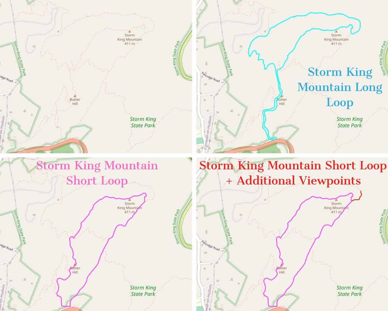 Storm King Mountain Trail Map