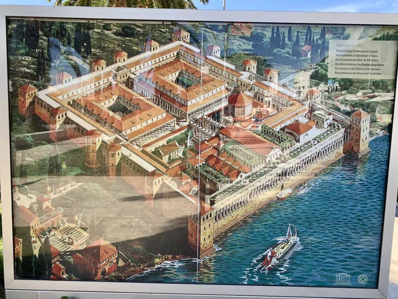 Diocletians Palace Map