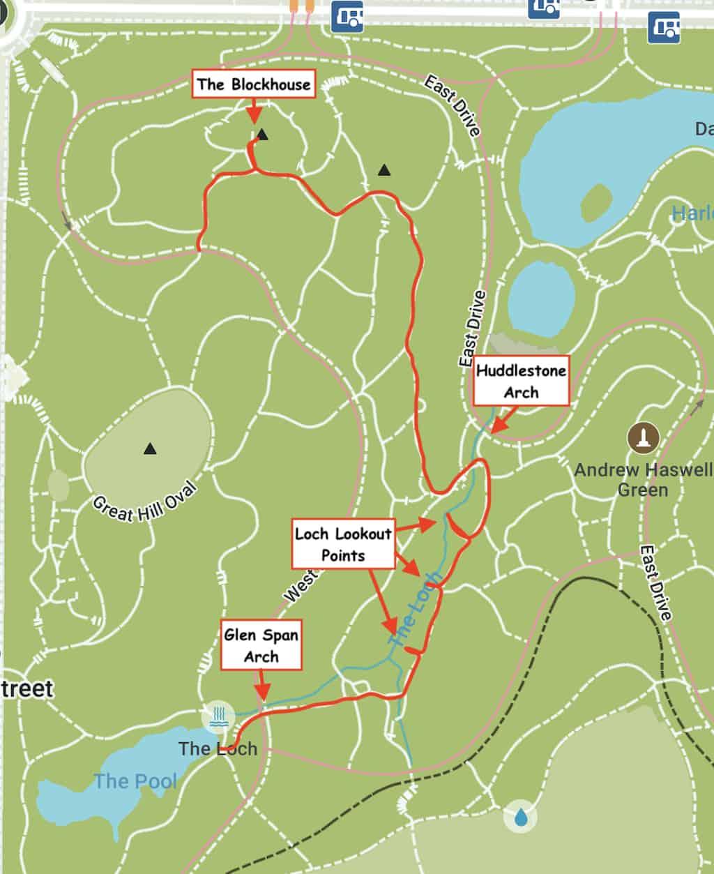 Central Park Trails Map