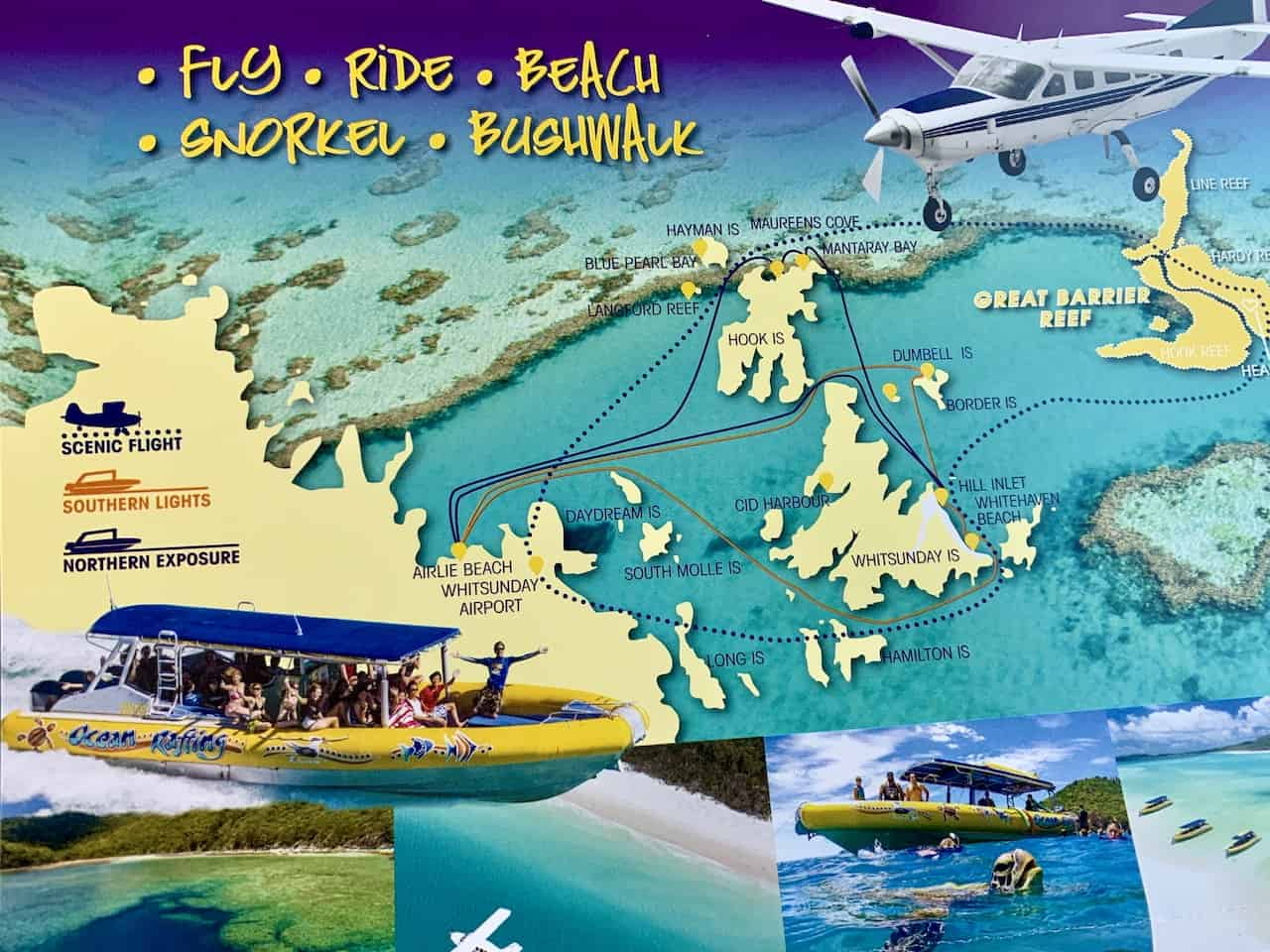 Great Barrier Reef Flight Map