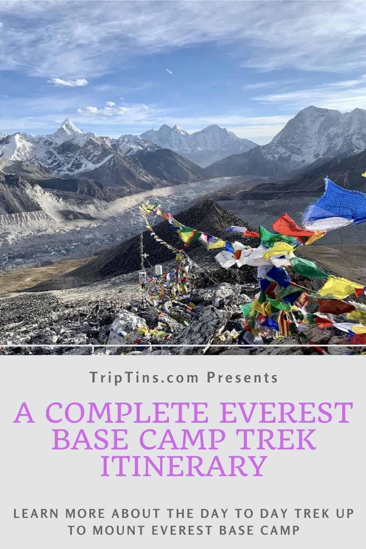 Mount Everest Base Camp Trek Itinerary