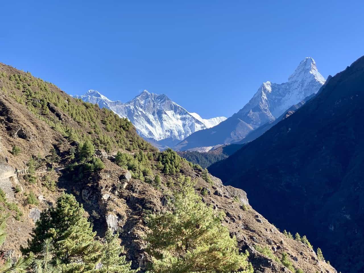 Mount Everest View Namche Bazaar to Tengboche