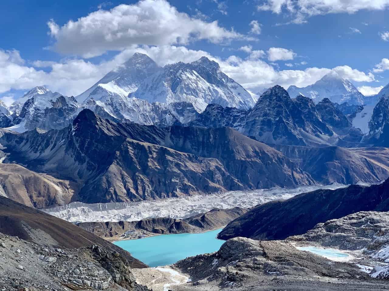 View of Mount Everest Renjo La Pass