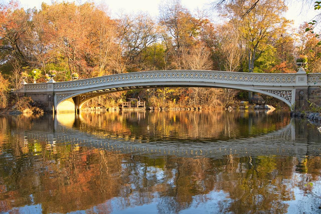 Bow Bridge Central Park Reflection