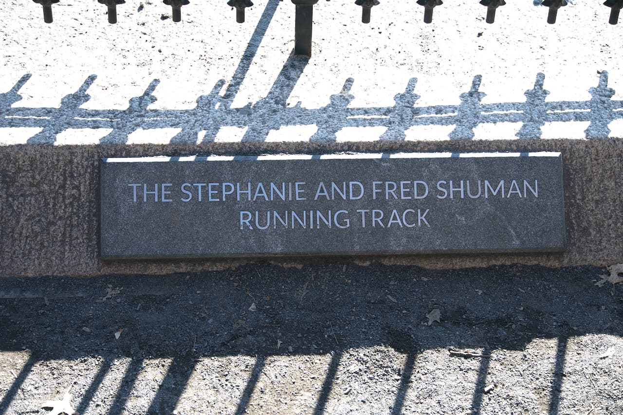 Stephanie and Fred Shuman Running Track New York