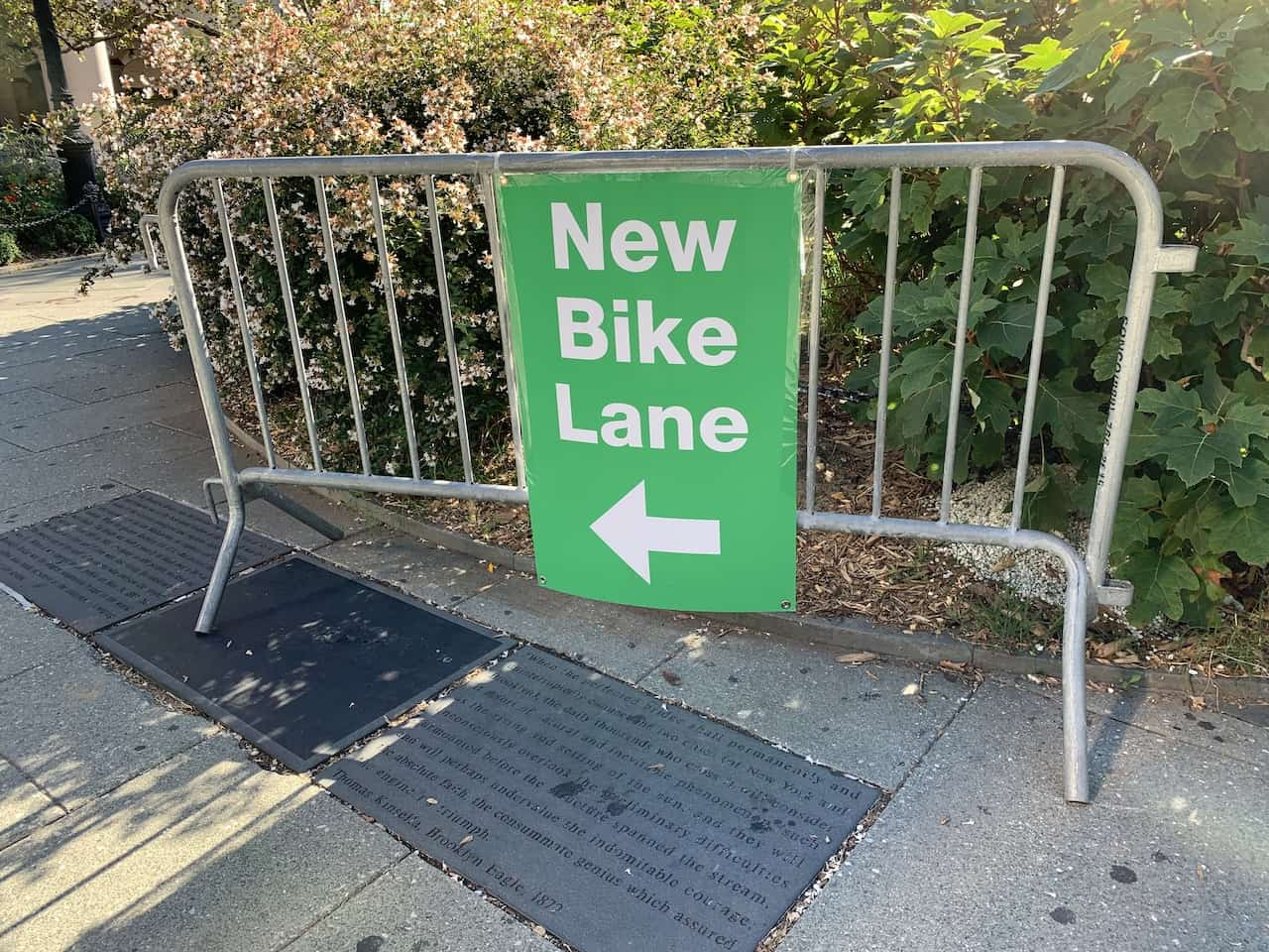 Brooklyn Bridge Bicycle Lane