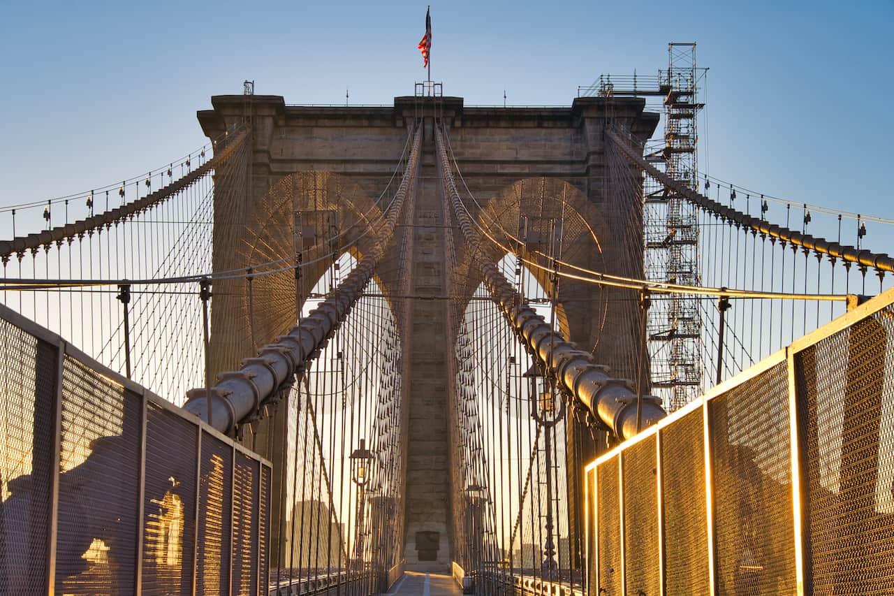 Brooklyn Bridge Manhattan to Brooklyn
