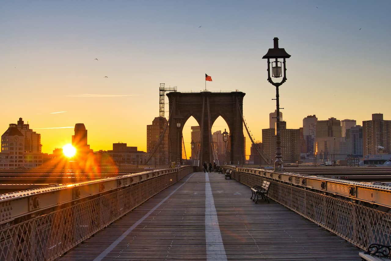Brooklyn Bridge Sunrise Photo