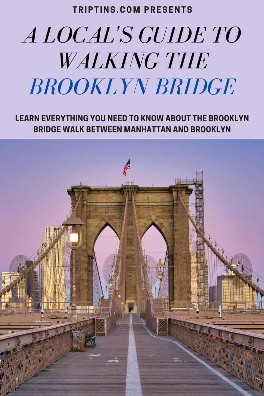 Brooklyn Bridge Walk NYC