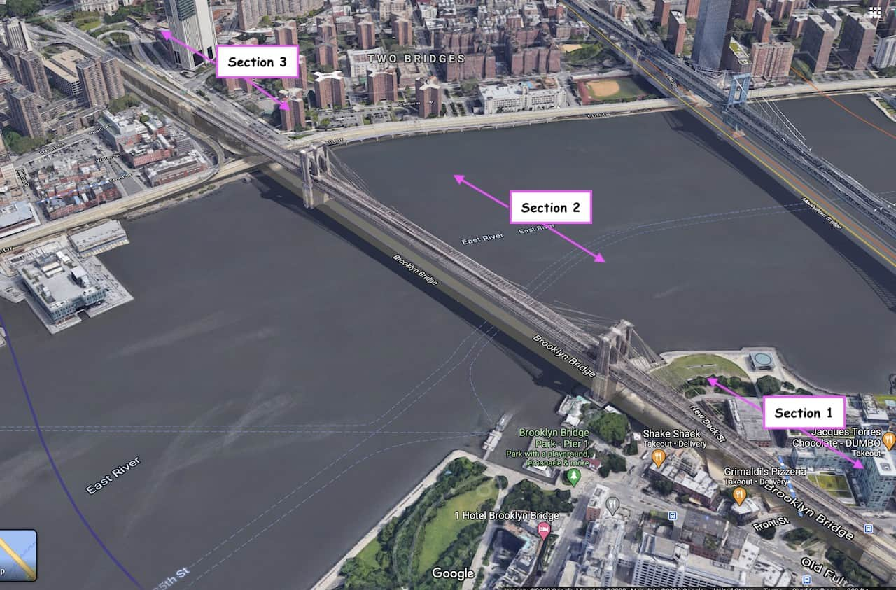 Brooklyn Bridge Walking Map