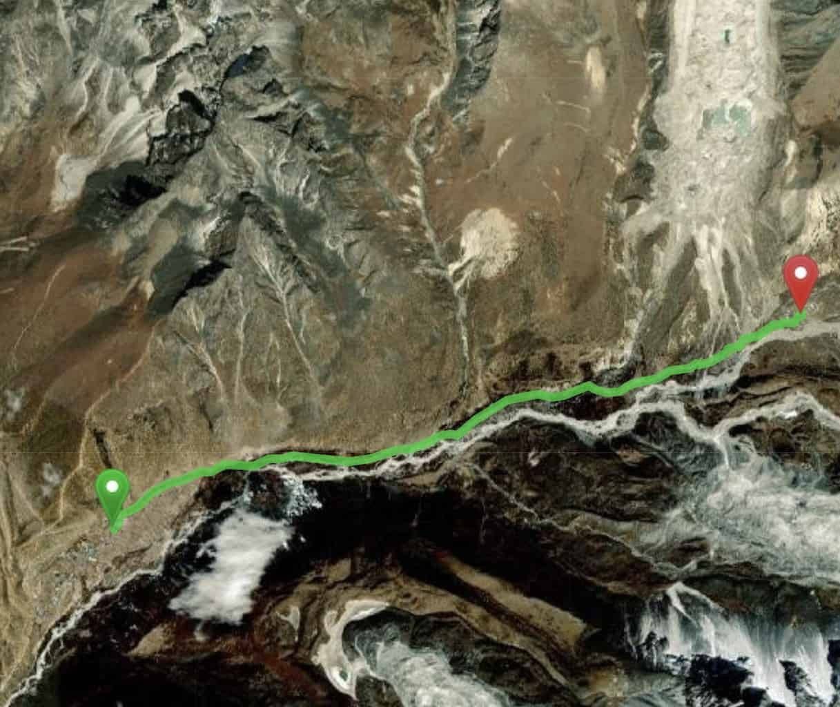 Dingboche to Chukhung Map